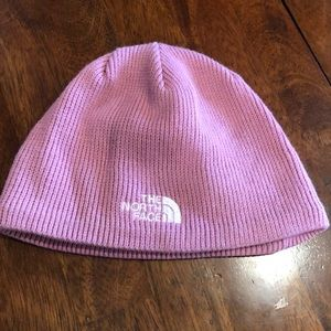 Child's One Size The North Face Beanie Hat Pink